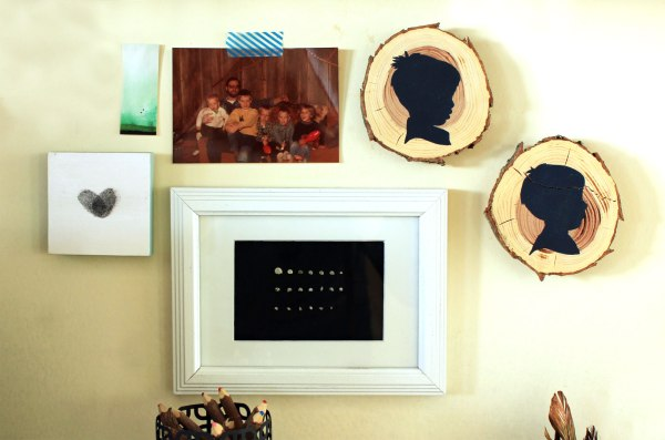 Silhouettes on Wood Slices in Mini Gallery