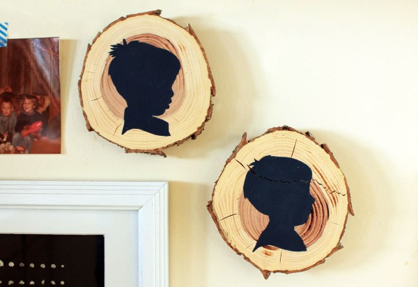 Silhouettes on Wood Slices