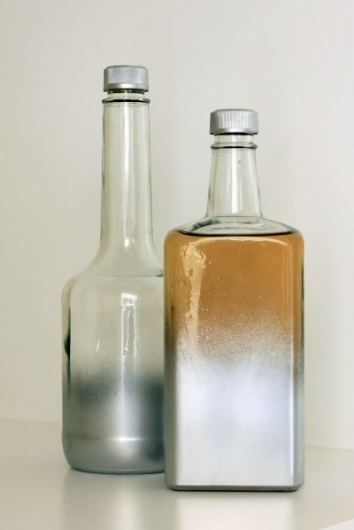 Bar Tray Painted Bottles