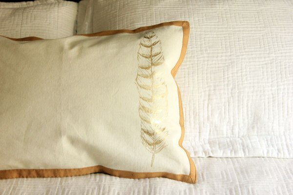Place Mat Pillow and Cover Tutorial Detail