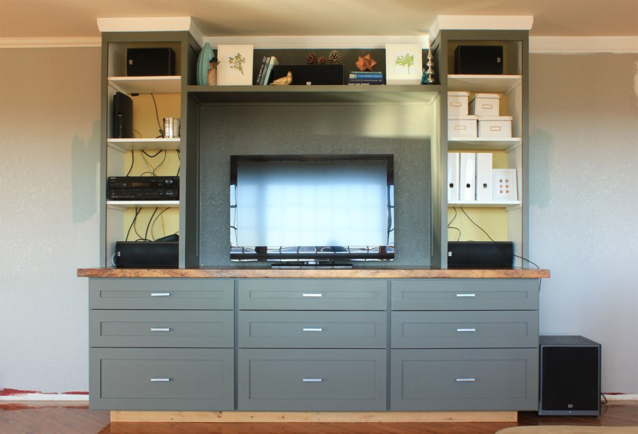 entertainment center with drawers our humble abode. Black Bedroom Furniture Sets. Home Design Ideas