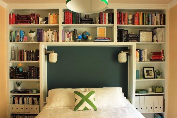 Guest-Bedroom-Painted-Safari-Headboard
