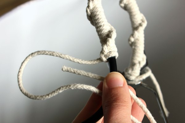 Ceiling Light Cable Cover : Rope cord cover