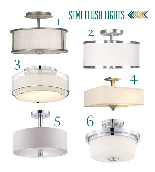 Semi-Flush-Light-Options