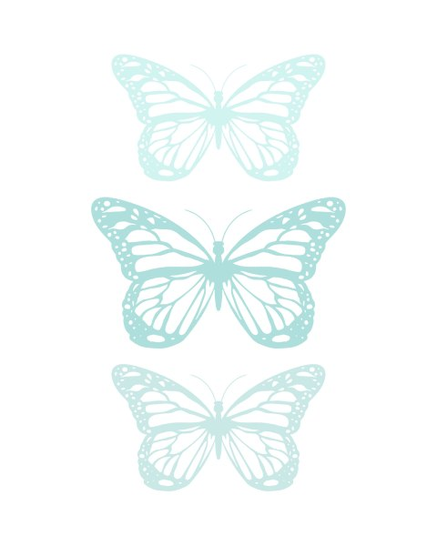 Spring-Butterfly-Aqua