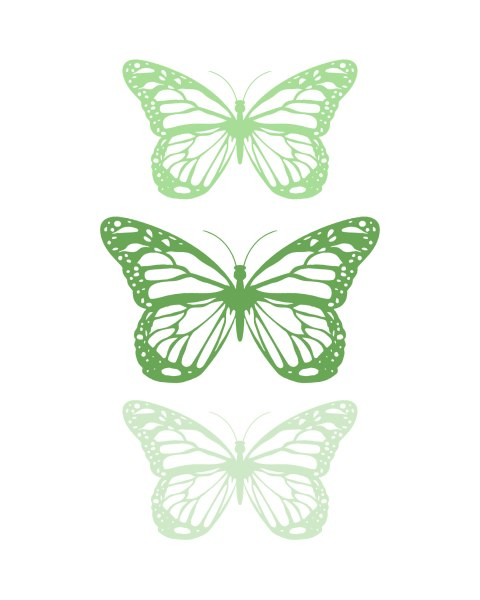 Spring-Butterfly-Green