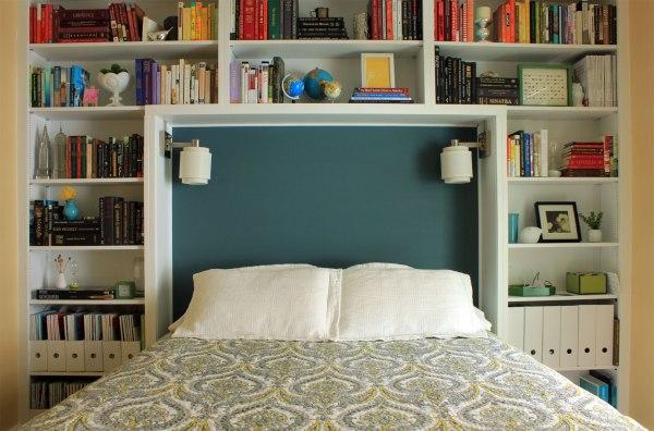 Guest-Bedroom-Damask-Bedding-Headboard