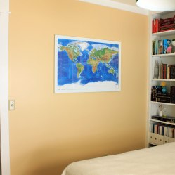 Guest Room After Map Art