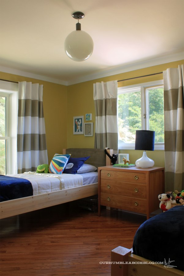 Boys bedroom new light our humble abode - Boys lighting for bedroom ...