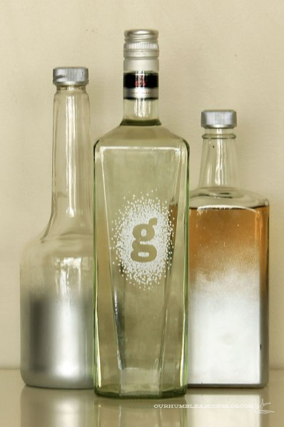 Bar-Bottles-with-Inital-Labels-and-Silver-Ombre