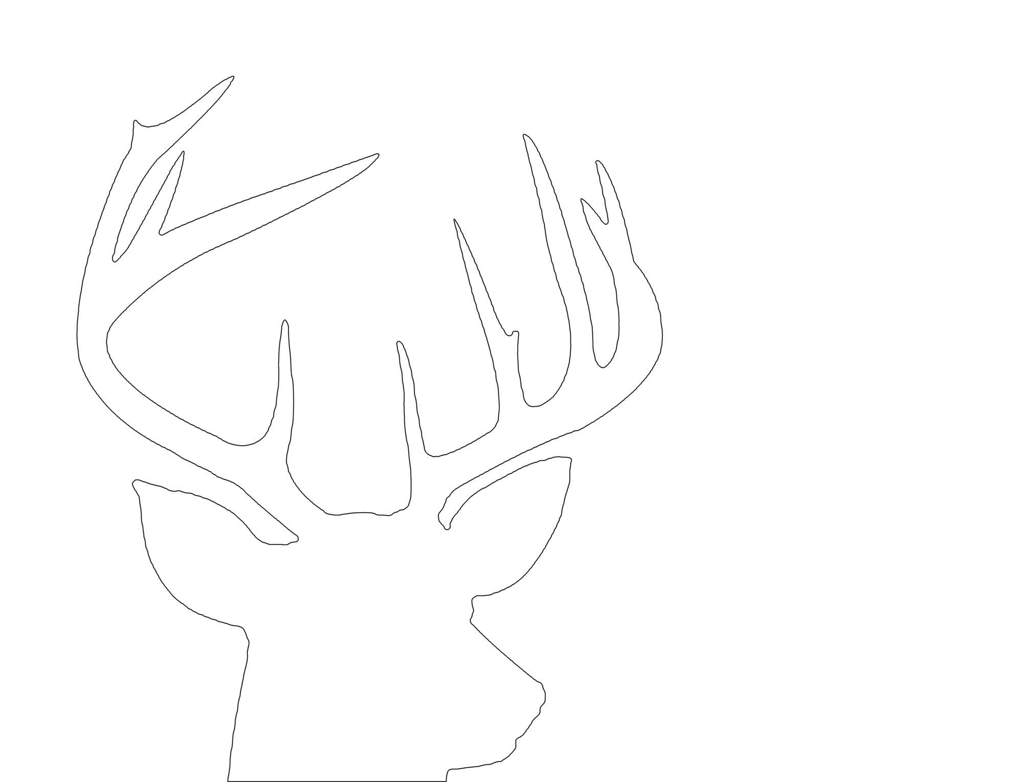 Stupendous image for printable deer head silhouette