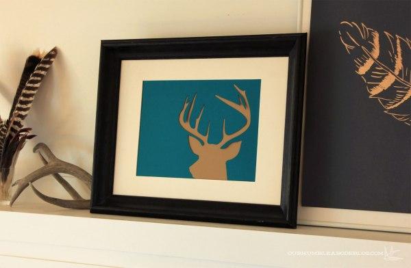 Jewel-Tone-Fall-Mantel-Deer-Art