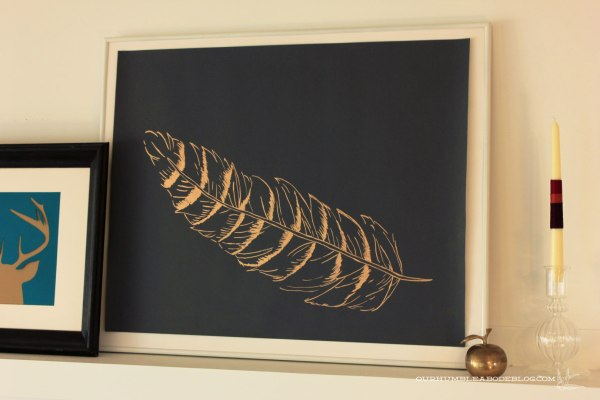 Jewel-Tone-Fall-Mantel-Feather-Art