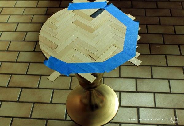 Gold-and-Herringbone-Side-Table-Step-4