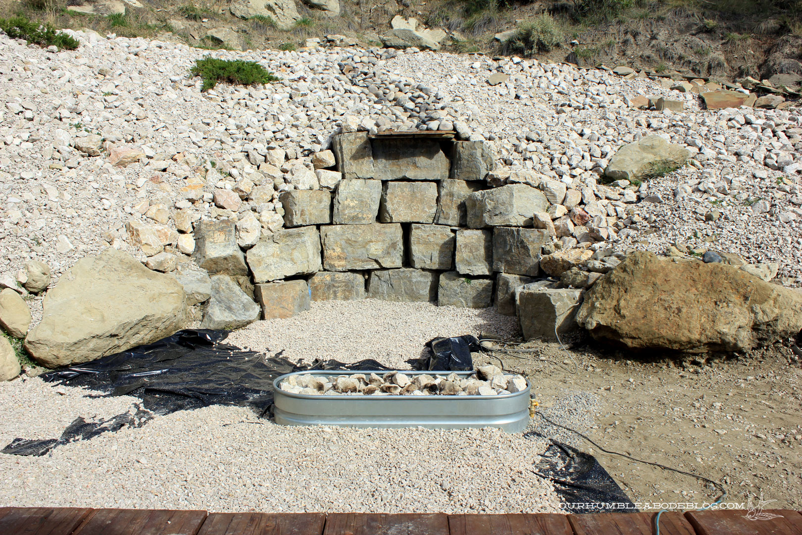 DIY Outdoor Gas Fire Pit