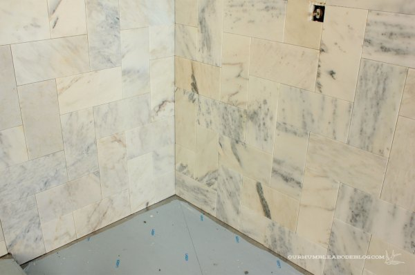 Marble-Herringbone-Shower-Corner-Wrap