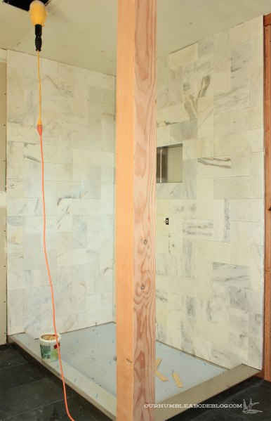 Marble-Herringbone-Shower