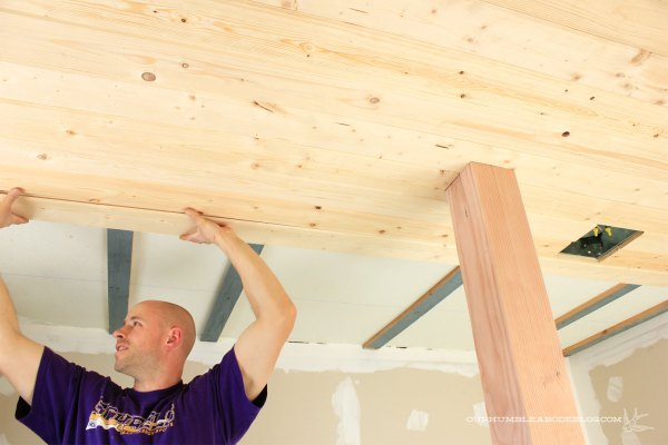 Tongue-and-Groove-On-Master-Bath-Ceiling-Install