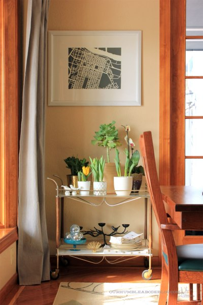 Cart-with-Plants-in-Dining-Room