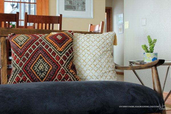 Kilim-Decor-Pillow-on-MCM-Bench