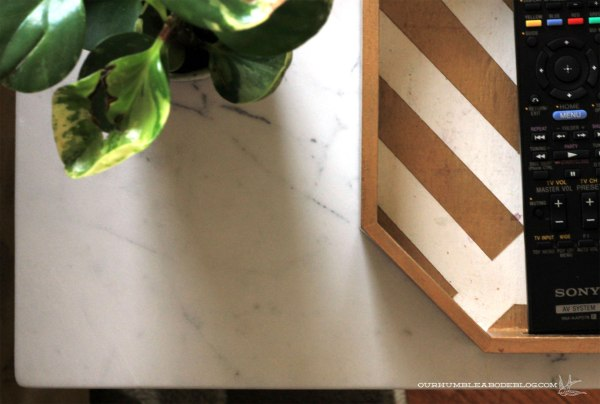 Honed-Marble-End-Table-Top-Detail