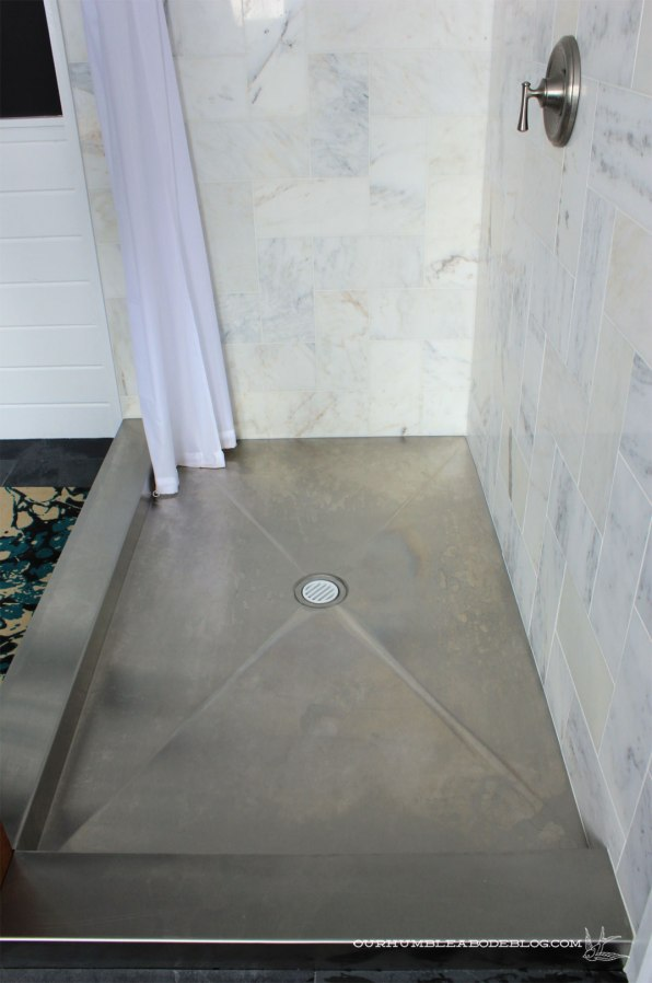 how to build a steel shower base