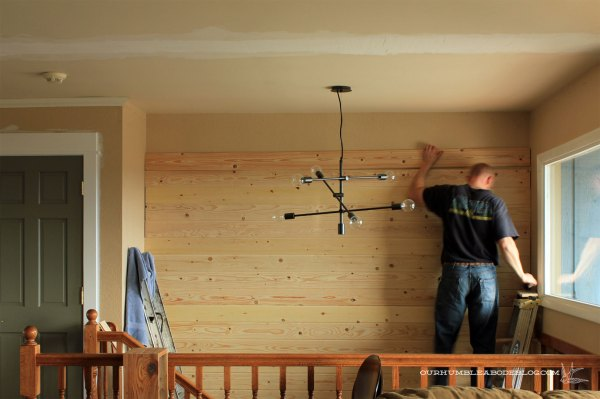 Tongue-and-Groove-Entry-Wall-Install