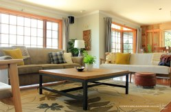 Build a custom sized metal looking coffee table: https://ourhumbleabodeblog.com/2014/05/26/squared/
