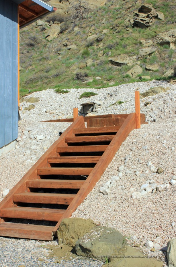 build wood steps up a hill