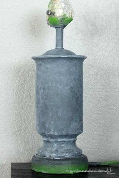 Faux-Zinc-Lamp-Finish-Dry