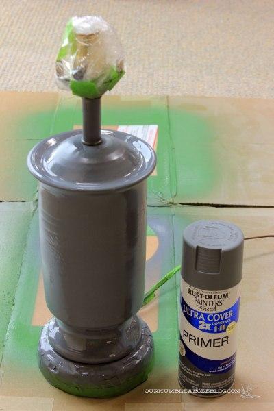 Faux-Zinc-Lamp-Sprayed-Gray