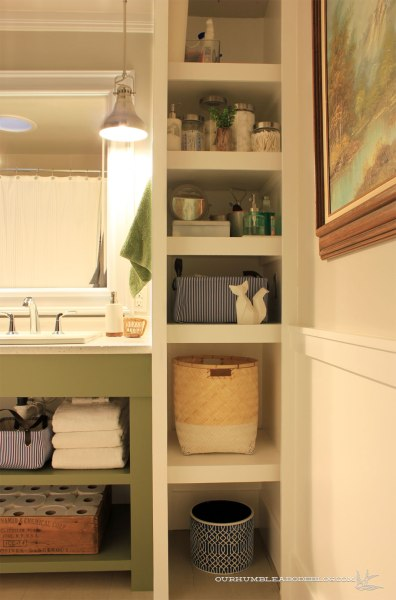 Main Bathroom Shelving