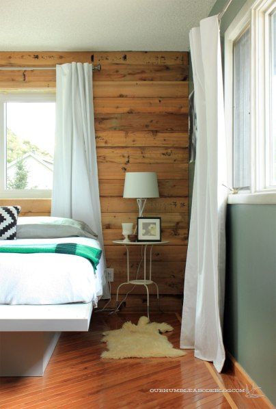 Cedar-Planked-Wall-Against-Table