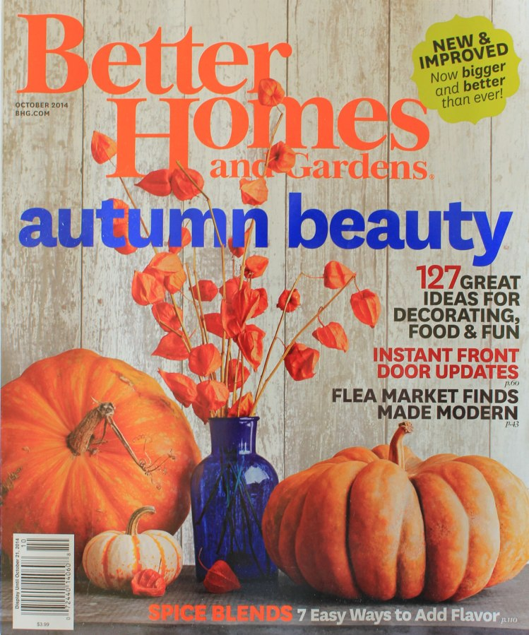 Better Homes And Gardens Oct 2014 Issue Cover Our Humble
