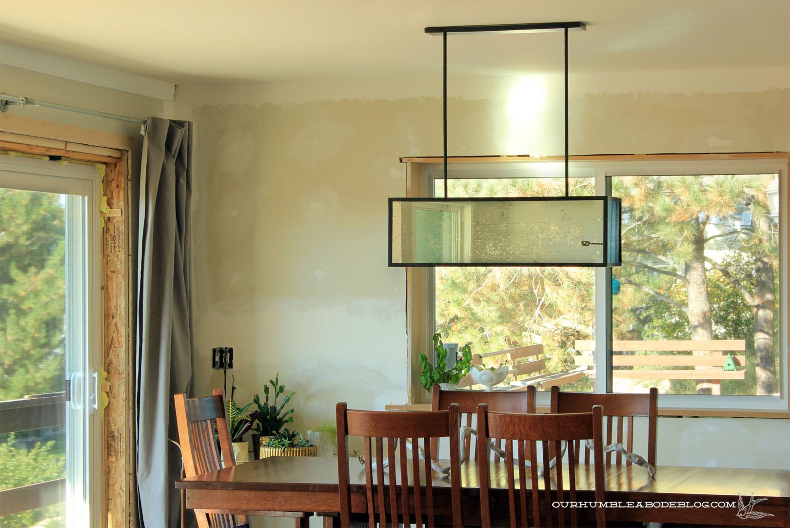 West elm panorama chandelier dining reflection arubaitofo Choice Image