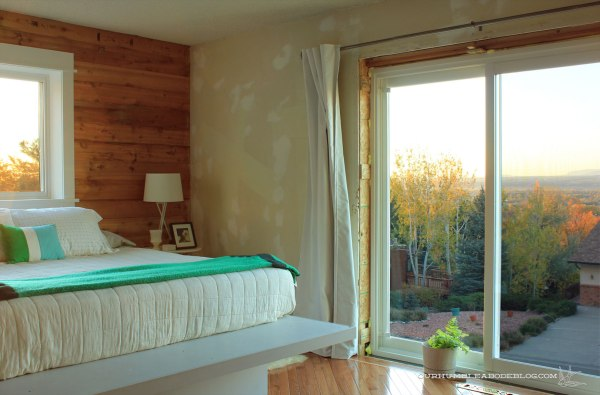 Master-Bedroom-Window-Trimmed-and-Wallpaper