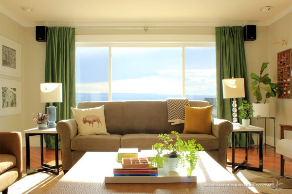 Green-Curtains-in-Living-Room-Behind-Sofa
