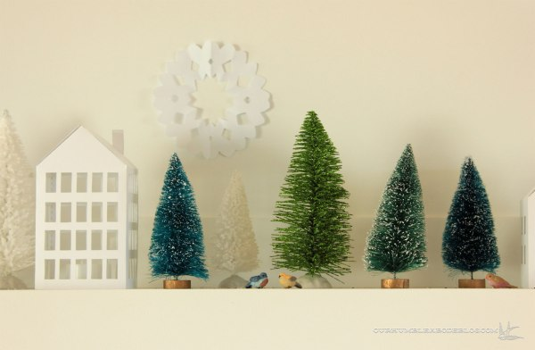 Christmas-Mantel-Paper-House-2-Detail