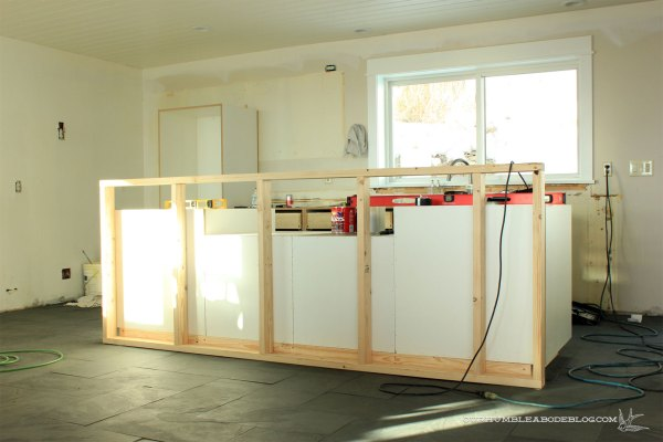 Kitchen-Cabinet-Install-Island-Wall