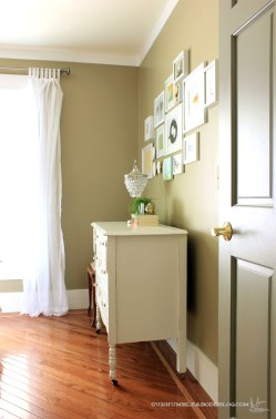 Guest-Room-Makeover-Green-Walls-and-White-Dresser