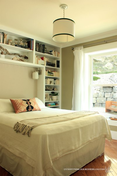Guest-Room-Makeover-Green-Walls-Upholstered-Headboard