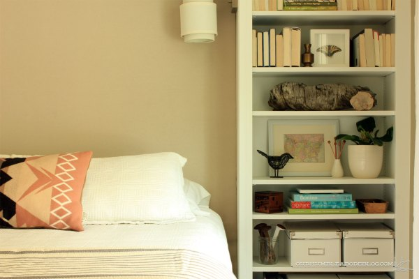Guest-Room-Upholstered-Headboard-with-Right-Side-Bookshelf