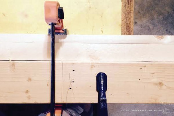 DIY-Picture-Frame-Clamped-Before-Router