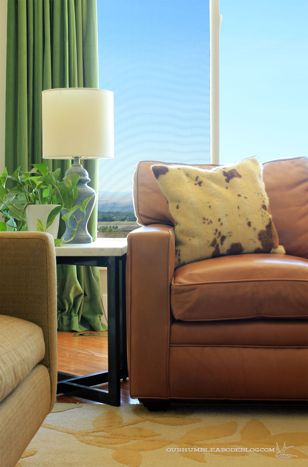Leather Sofa Left Side Arm