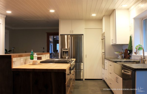 Kitchen-with-Lights-on-Toward-Pantry