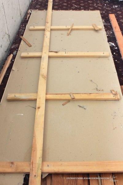 Basement-Demo-Progress-Concrete-Wall-Covering