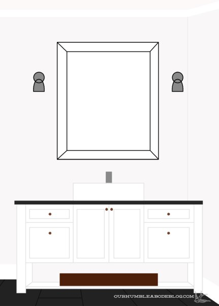 Plan a unique vanity: https://ourhumbleabodeblog.com/2016/01/27/designing-a-bathroom-vanity/
