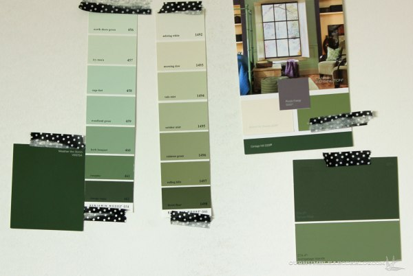 First-Round-Green-Paint-Samples-for-Basement