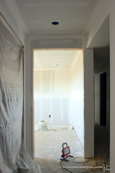 Basement-Hall-Toward-Bedroom-Sheetrock