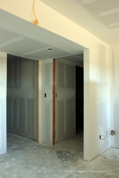 Basement-Theater-Door-Sheetrock